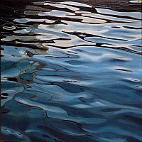 """Rhythm of the Bay 2/3"", oil/canvas"